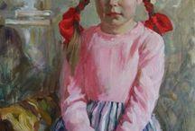 Children in art . Impressionist