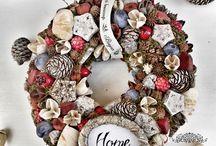 Fall door wreathes