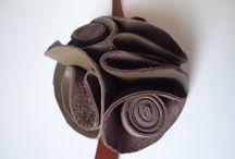 DIY fleur cuir