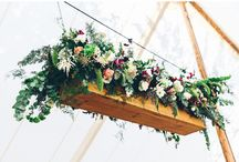 Hanging floral centrepieces