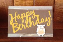 Owl cards by Marcia / Die cut owls