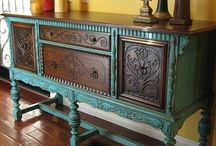 Dining room table and hutch facelift ideas  / by Kacie