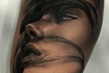 women portrait tattoo