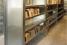Estanterías como Librerías... / Soluciones de estanterías industriales para almacenaje de libros.