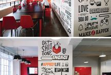 Office Branding / Branding your business is important because it lets potential employees and client know what you do. Let your office space do the branding for you through color, logos, and themes!