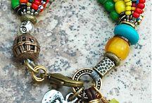 Mixed beads bracelet idea