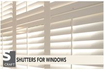 Window Shutters Tips & Styling / http://www.s-craft.co.uk