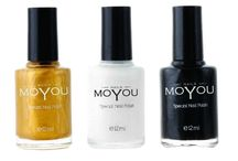 Moyou Nail Art Bundle 3 with 3 Nail Polish / Moyou Nail Art Bundle 3 with 3 Nail Polish
