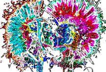 psychedelic art_T-ART.CZ / psychedelic art, potisk, originální motiv na tričko,T-ART.CZ,