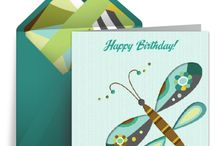 Birthday Wishes / A beautiful collection of stylish free birthday eCards with sophisticated designs, patterns, and textures. Digital Greeting Cards have the look and feel of traditional paper cards, but can be created and sent from the comfort of your own home. Discover free eCards for all the important people in your life. / by Punchbowl