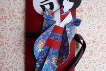 Origami bonecas orientais