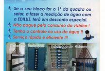 INDIVIDUALIZAÇÃO DE ÁGUA / REVISÃO E INSTALAÇÃO HIDRÁULICA; REVISÃO  E INSTALAÇÃO ELÉTRICA