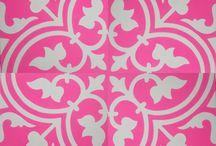 Portuguese tile prints (pink theme)