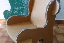 fauteuil enfant en carton
