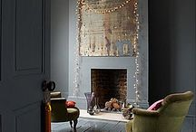 grey floor fireplace