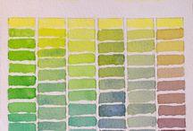 Watercolor chart Winsor Lemon