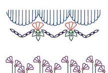 Crazy quilt stitch /pearl embroidery / Punti creativi e ricamo con perline