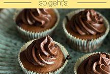 Mandelmus-Cupcakes