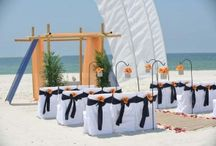 A Navy and Orange Beach Wedding / Big Day Weddings, Navy and Orange wedding theme, Orange Beach Alabama, Gulf Shores Alabama, Gulf Coast Weddings, Alabama Beach Weddings, Beach Weddings, Color Schemes, Wedding Themes