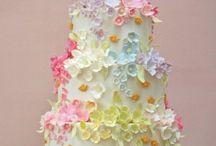 Torta Decorata Con Fiori