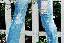 wycierane spodnie z koronka