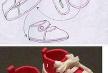 Zapatos para muñecas o muñecos utilizados en fofuchas o de trapo