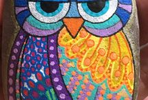 dotted owl painting
