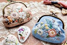 Embroidery : pouch & bags ideas
