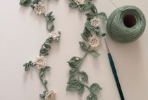 Crochet girland