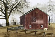 Framed Barn Prints