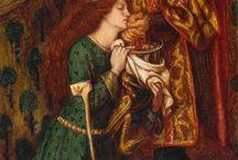 Préraphaélisme / Le préraphaélisme est un mouvement artistique né au Royaume-Uni en 1848. Ce mouvement tient la peinture des maîtres italiens du XVe siècle, prédécesseurs de Raphaël, comme le modèle à imiter. (wikipedia)