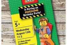 Lego Birthday Invite