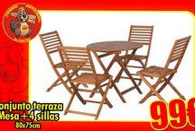 Muebles de Jardín / Muebles diversos de jardín disponibles en nuestras tiendas de #Cartagena #Alicante #SanJuan #Torrevieja y #SantaPola