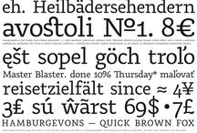 Type / My typefaces
