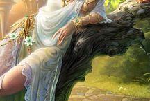 angeli, fate e paesaggi fantasy