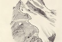 Art / Рисуй природу, потому она прекрасна. Благодари Бога за горы, моря, величественные леса и многое многое!