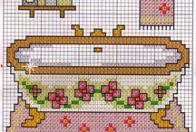 Bath pattern cross stitch