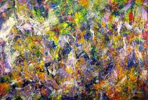 Bold iridescent pieces. Art.