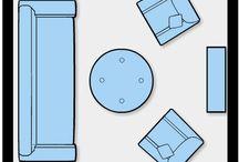 arranging furniture
