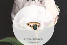 Anelli Primavera - Spring Rings / Opera Unica collection spring-summer 2016: colorful and elegant Spring Rings!