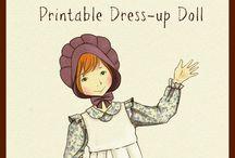 Dress up dolls / vystřihovánky