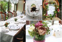 ブーケ・会場装花 [ アンティークピンク ] / ブーケや会場装花、花冠等のウェディングフラワーを中心に、ケーキ、ドレス、招待状、シューズ、アクセサリー等、結婚式のイメージをカラー別にまとめたボードです。