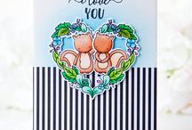 card with sweet stamps 2017