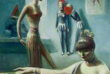 "The Ballet Tryout / ""The Ballet Tryout,"" Guy Pene Du Bois, Questroyal Fine Art. http://www.fada.org/image/21516/the-ballet-tryout/"