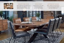 SOHO Oak Furniture Collection / With 3 table bases and sideboards to choose from, you really can create a different look in your dining room. Produced from 100% solid European oak with a stylish smoked finish applied. With 12 different beautiful pieces to choose from you can create your own combination.