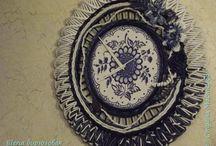 часы из бумажной лозы