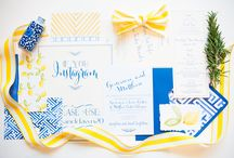 bridal suites for funky wright designs / Yellow and blue chinoserie wedding suite