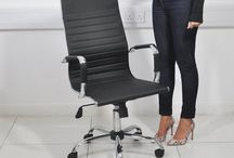 Black Leather Chair Office Furniture Desk Work Home Christmas Gift Xmas Decor