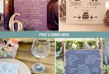 Wedding Reception Food & Drinks / Great ideas of food and drinks to serve your wedding guests