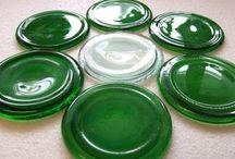 recyklácia - SKLO / GLASS sklenené fľaše